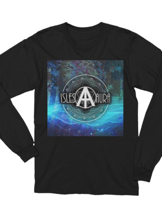 Isles of Aura - Black Long Sleeve T-Shirt (front)