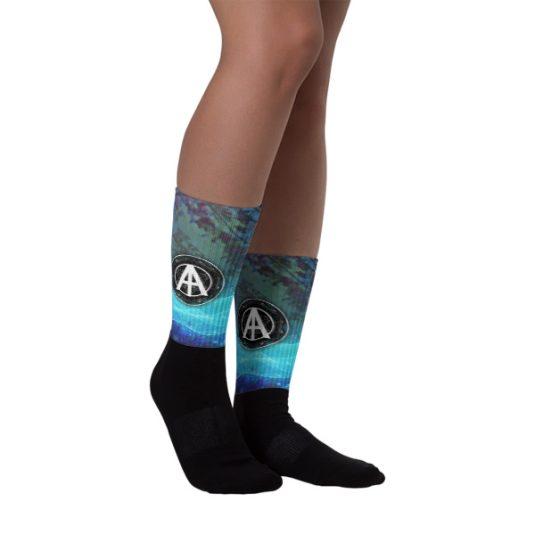 Isles of Aura - Blue Bug Blood Socks 1