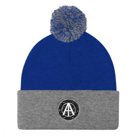 Isles of Aura - Blue & Grey Knit Cap