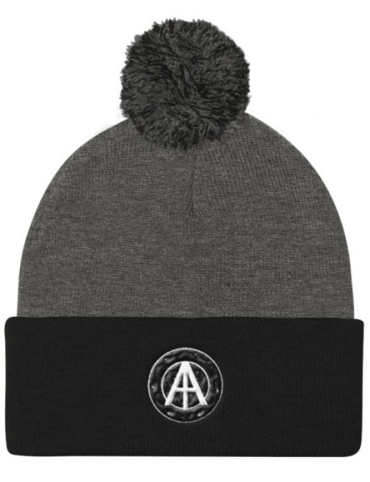 Isles of Aura - Grey & Black Knit Cap