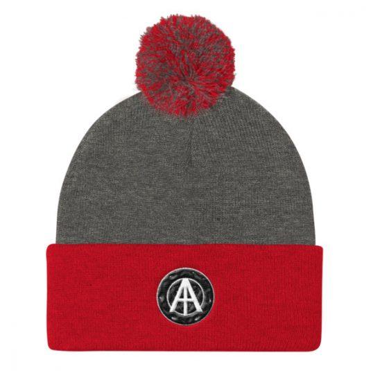 Isles of Aura - Grey & Red Knit Cap