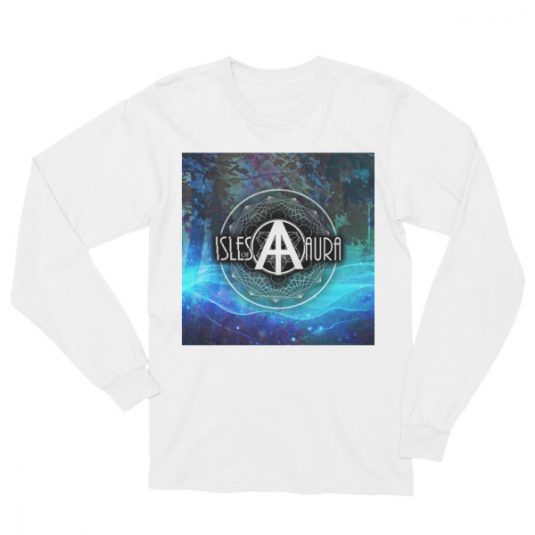 Isles of Aura - White Long Sleeve T-Shirt (front)